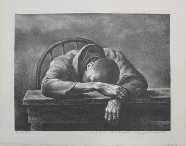 Joseph Hirsch (American, 1910-1981). <em>Lunch Hour</em>, 1942. Lithograph, Sheet: 10 15/16 x 14 in. (27.8 x 35.6 cm). Brooklyn Museum, Gift of The Louis E. Stern Foundation, Inc., 64.101.188. © artist or artist's estate (Photo: Brooklyn Museum, CUR.64.101.188.jpg)