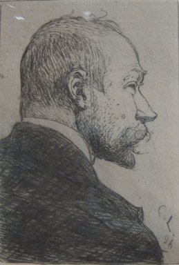Carl Olof Larsson (Swedish, 1853-1919). <em>Self Portrait</em>, 1896. Etching on laid paper, 2 11/16 x 1 7/8 in. (6.8 x 4.8 cm). Brooklyn Museum, Gift of The Louis E. Stern Foundation, Inc., 64.101.245 (Photo: Brooklyn Museum, CUR.64.101.245.jpg)