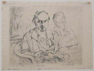 William Meyerowitz (American, 1898-1981). <em>Self Portrait</em>, n.d. Etching on paper, sheet: 9 1/4 x 12 1/2 in. (23.5 x 31.8 cm). Brooklyn Museum, Gift of The Louis E. Stern Foundation, Inc., 64.101.279. © artist or artist's estate (Photo: Brooklyn Museum, CUR.64.101.279.jpg)