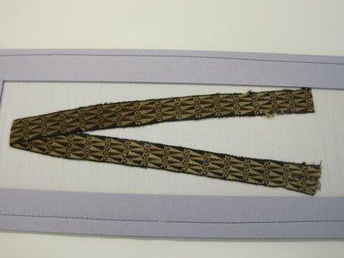 Inca (Arica or Provincial). <em>Belt, Fragment or Bag Strap, Fragment</em>, 1400-1532. Camelid fiber, (83.0 x 3.5 cm). Brooklyn Museum, Gift of Adelaide Goan, 64.114.175 (Photo: Brooklyn Museum, CUR.64.114.175.jpg)