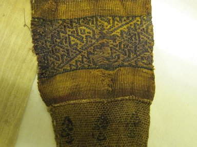 Chimú. <em>Loincloth, Tie, Fragment</em>, 1000-1700. Cotton, camelid fiber, opened: 27 15/16 x 7 1/16 in. (71.0 x 18.0 cm). Brooklyn Museum, Gift of Adelaide Goan, 64.114.191 (Photo: Brooklyn Museum, CUR.64.114.191_detail.jpg)