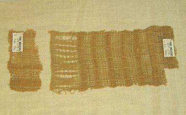 <em>Textile Fragments</em>, 1532-1700 or 1000-1400. Cotton, A: 4 × 8 7/16 in. (10.2 × 21.4 cm). Brooklyn Museum, Gift of Adelaide Goan, 64.114.1a-b (Photo: Brooklyn Museum, CUR.64.114.1a-b.jpg)