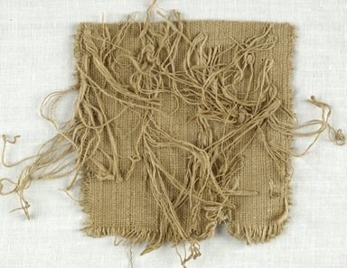 Coptic. <em>Fragment with Fringe</em>, 5th-7th century C.E. Flax, 4 x 5 in. (10.2 x 12.7 cm). Brooklyn Museum, Gift of Adelaide Goan, 64.114.239 (Photo: Brooklyn Museum (in collaboration with Index of Christian Art, Princeton University), CUR.64.114.239_ICA.jpg)