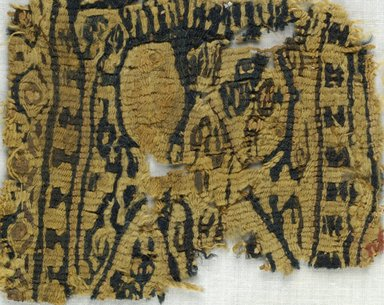 Coptic. <em>Fragment with Animal Decoration</em>, 5th-7th century C.E. Wool, 4 x 5 in. (10.2 x 12.7 cm). Brooklyn Museum, Gift of Adelaide Goan, 64.114.255 (Photo: Brooklyn Museum (in collaboration with Index of Christian Art, Princeton University), CUR.64.114.255_ICA.jpg)