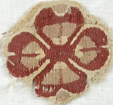 Coptic. <em>Rosette</em>, 5th-7th century C.E. Flax, wool, 3 1/8 x 3 1/8 in. (8 x 8 cm). Brooklyn Museum, Gift of Adelaide Goan, 64.114.265 (Photo: Brooklyn Museum (in collaboration with Index of Christian Art, Princeton University), CUR.64.114.265_ICA.jpg)