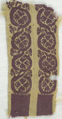 Coptic. <em>Fragment with Botanical Decoration</em>, 5th-7th century C.E. Linen, wool, 2 x 4 1/4 in. (5.1 x 10.8 cm). Brooklyn Museum, Gift of Adelaide Goan, 64.114.272 (Photo: Brooklyn Museum (in collaboration with Index of Christian Art, Princeton University), CUR.64.114.272_ICA.jpg)