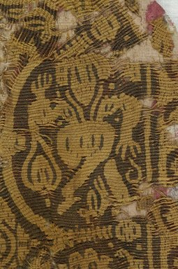 Coptic. <em>Band Fragment with Figural and Geometric Decoration</em>, 5th-7th century C.E. Wool, 6 x 8 1/4 in. (15.2 x 21 cm). Brooklyn Museum, Gift of Adelaide Goan, 64.114.284 (Photo: Brooklyn Museum (in collaboration with Index of Christian Art, Princeton University), CUR.64.114.284_detail01_ICA.jpg)