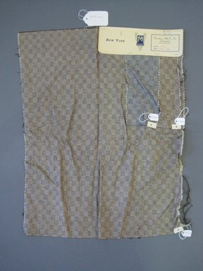 Onondaga Silk Company, Inc. (1925-1981). <em>Textile Swatches</em>, 1948-1959. Silk, a: 22 1/2 x 18 in. (57.2 x 45.7 cm). Brooklyn Museum, Gift of the Onondaga Silk Company, 64.130.102a-c (Photo: Brooklyn Museum, CUR.64.130.102a-c.jpg)