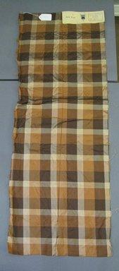 Onondaga Silk Company, Inc. (1925-1981). <em>Textile Swatches</em>, 1948-1959. Silk, 48 1/2 x 18 in. (123.2 x 45.7 cm). Brooklyn Museum, Gift of the Onondaga Silk Company, 64.130.104 (Photo: Brooklyn Museum, CUR.64.130.104.jpg)