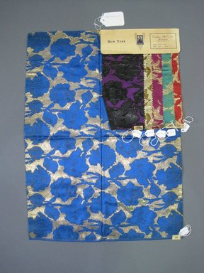 Onondaga Silk Company, Inc. (1925-1981). <em>Textile Swatches</em>, 1948-1959. Silk, metal and synthetic film yarns, a: 23 3/4 x 17 1/2 in. (60.3 x 44.5 cm). Brooklyn Museum, Gift of the Onondaga Silk Company, 64.130.108a-f (Photo: Brooklyn Museum, CUR.64.130.108a-f.jpg)