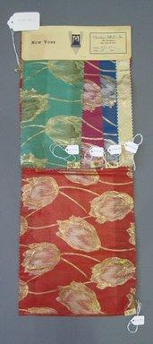 Onondaga Silk Company, Inc. (1925-1981). <em>Textile Swatches</em>, 1948-1959. Silk, metal, a: 23 1/2 x 9 1/4 in. (59.7 x 23.5 cm). Brooklyn Museum, Gift of the Onondaga Silk Company, 64.130.109a-e (Photo: Brooklyn Museum, CUR.64.130.109a-e.jpg)