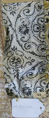 Onondaga Silk Company, Inc. (1925-1981). <em>Textile Swatches</em>, 1948-1959. 72% silk; 28% metal, a-h: 11 x 3 1/2 in. (27.9 x 8.9 cm). Brooklyn Museum, Gift of the Onondaga Silk Company, 64.130.10a-i (Photo: Brooklyn Museum, CUR.64.130.10a.jpg)