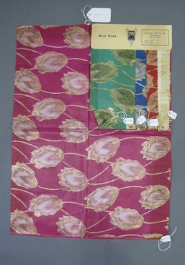 Onondaga Silk Company, Inc. (1925-1981). <em>Textile Swatches</em>, 1948-1959. Silk, metal, a: 23 3/4 x 17 1/2 in. (60.3 x 44.5 cm). Brooklyn Museum, Gift of the Onondaga Silk Company, 64.130.110a-e (Photo: Brooklyn Museum, CUR.64.130.110a-e.jpg)