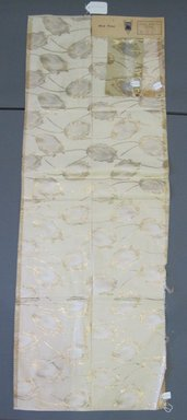 Onondaga Silk Company, Inc. (1925-1981). <em>Textile Swatches</em>, 1948-1959. Silk, metal, a: 47 1/2 x 17 1/4 in. (120.7 x 43.8 cm). Brooklyn Museum, Gift of the Onondaga Silk Company, 64.130.112a-c (Photo: Brooklyn Museum, CUR.64.130.112a-c.jpg)
