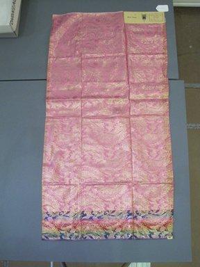 Onondaga Silk Company, Inc. (1925-1981). <em>Textile Swatches</em>, 1948-1959. 72% silk, 28% acetate, 47 1/2 x 25 1/4 in. (120.7 x 64.1 cm). Brooklyn Museum, Gift of the Onondaga Silk Company, 64.130.115 (Photo: Brooklyn Museum, CUR.64.130.115.jpg)