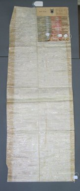 Onondaga Silk Company, Inc. (1925-1981). <em>Textile Swatches</em>, 1948-1959. 72% silk, 28% metal, a: 47 1/2 x 17 in. (120.7 x 43.2 cm). Brooklyn Museum, Gift of the Onondaga Silk Company, 64.130.118a-d (Photo: Brooklyn Museum, CUR.64.130.118a-d.jpg)