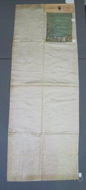 Onondaga Silk Company, Inc. (1925-1981). <em>Textile Swatches</em>, 1948-1959. 72% silk, 28% metal, a: 50 1/2 x 18 in. (128.3 x 45.7 cm). Brooklyn Museum, Gift of the Onondaga Silk Company, 64.130.119a-c (Photo: Brooklyn Museum, CUR.64.130.119a-c.jpg)