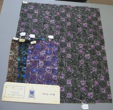 Onondaga Silk Company, Inc. (1925-1981). <em>Textile Swatches</em>, 1948-1959. cotton; wool, largest component (a): 21 x 18 in. (53.3 x 45.7 cm). Brooklyn Museum, Gift of the Onondaga Silk Company, 64.130.120a-d (Photo: Brooklyn Museum, CUR.64.130.120a-d.jpg)