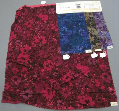 Onondaga Silk Company, Inc. (1925-1981). <em>Textile Swatches</em>, 1948-1959. cotton; wool, largest component (a): 21 1/2 x 17 1/2 in. (54.6 x 44.5 cm). Brooklyn Museum, Gift of the Onondaga Silk Company, 64.130.126a-d (Photo: Brooklyn Museum, CUR.64.130.126a-d.jpg)