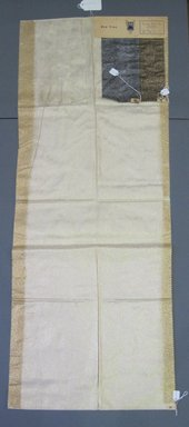 Onondaga Silk Company, Inc. (1925-1981). <em>Textile Swatches</em>, 1948-1959. 78% silk, 28% metal, a: 46 1/2 x 17 1/2 in. (118.1 x 44.5 cm). Brooklyn Museum, Gift of the Onondaga Silk Company, 64.130.139a-c (Photo: Brooklyn Museum, CUR.64.130.139a-c.jpg)