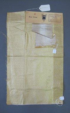 Onondaga Silk Company, Inc. (1925-1981). <em>Textile Swatches</em>, 1948-1959. 81% silk, 19% metal, a: 47 1/2 x 17 1/4 in. (120.7 x 43.8 cm). Brooklyn Museum, Gift of the Onondaga Silk Company, 64.130.142a-b (Photo: Brooklyn Museum, CUR.64.130.142a-b.jpg)