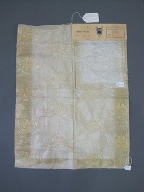 Onondaga Silk Company, Inc. (1925-1981). <em>Textile Swatches</em>, 1948-1959. 47% silk, 36% nylon, 17% metal, a: 23 x 17 3/4 in. (58.4 x 45.1 cm). Brooklyn Museum, Gift of the Onondaga Silk Company, 64.130.143a-b (Photo: Brooklyn Museum, CUR.64.130.143a-b.jpg)