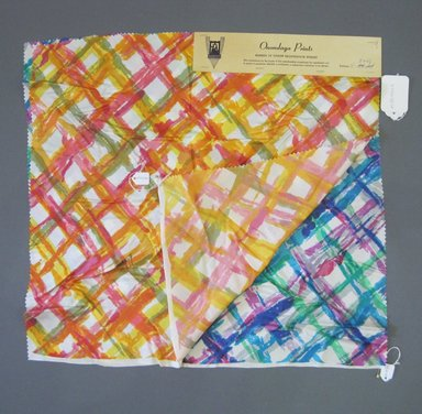 Onondaga Silk Company, Inc. (1925-1981). <em>Textile Swatches</em>, 1948-1959. Silk, a and b: 21 x 22 in. (53.3 x 55.9 cm). Brooklyn Museum, Gift of the Onondaga Silk Company, 64.130.145a-b (Photo: Brooklyn Museum, CUR.64.130.145a-b.jpg)