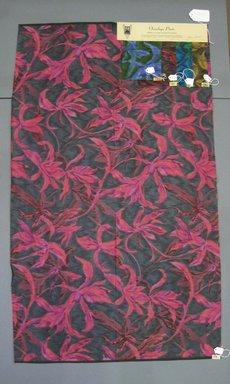Onondaga Silk Company, Inc. (1925-1981). <em>Textile Swatches</em>, 1948-1959. Silk, a: 42 1/4 x 25 1/4 in. (107.3 x 64.1 cm). Brooklyn Museum, Gift of the Onondaga Silk Company, 64.130.148a-e (Photo: Brooklyn Museum, CUR.64.130.148a-e.jpg)