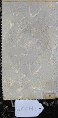 Onondaga Silk Company, Inc. (1925-1981). <em>Textile Swatches</em>, 1948-1959. 60% acetate; 27% nylon; 13% metal, (a) - (b): 11 x 5 in. (27.9 x 12.7 cm). Brooklyn Museum, Gift of the Onondaga Silk Company, 64.130.14a-c (Photo: Brooklyn Museum, CUR.64.130.14a.jpg)