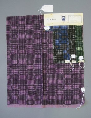 Onondaga Silk Company, Inc. (1925-1981). <em>Textile Swatches</em>, 1948-1959. Wool cotton blend, a: 20 1/2 x 17 in. (52.1 x 43.2 cm). Brooklyn Museum, Gift of the Onondaga Silk Company, 64.130.157a-d (Photo: Brooklyn Museum, CUR.64.130.157a-d.jpg)