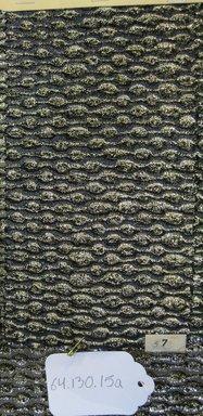 Onondaga Silk Company, Inc. (1925-1981). <em>Textile Swatches</em>, 1948-1959. 60% acetate; 27% nylon; 13% metal, (a) - (c): 8 1/2 x 4 1/2 in. (21.6 x 11.4 cm). Brooklyn Museum, Gift of the Onondaga Silk Company, 64.130.15a-d (Photo: Brooklyn Museum, CUR.64.130.15a.jpg)