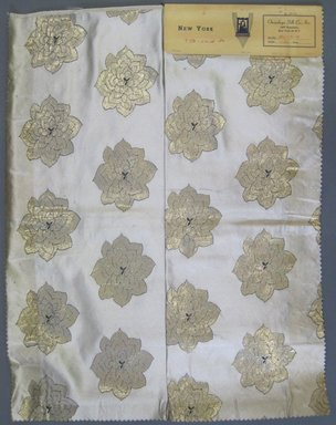 Onondaga Silk Company, Inc. (1925-1981). <em>Textile Swatches</em>, 1948-1959. 72% silk; 28% metal, 23 x 18 in. (58.4 x 45.7 cm). Brooklyn Museum, Gift of the Onondaga Silk Company, 64.130.16 (Photo: Brooklyn Museum, CUR.64.130.16.jpg)
