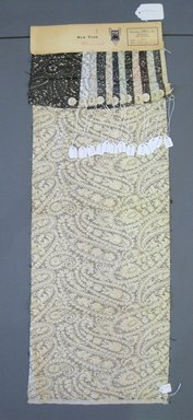 Onondaga Silk Company, Inc. (1925-1981). <em>Textile Swatches</em>, 1948-1959. Synthetic and metal yarns, a: 35 1/2 x 12 1/2 in. (90.2 x 31.8 cm). Brooklyn Museum, Gift of the Onondaga Silk Company, 64.130.161 (Photo: Brooklyn Museum, CUR.64.130.161a-n.jpg)