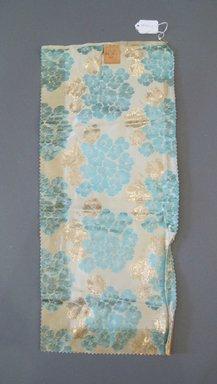 Onondaga Silk Company, Inc. (1925-1981). <em>Textile Swatches</em>, 1948-1959. Silk, metal, 22 x 9 3/4 in. (55.9 x 24.8 cm). Brooklyn Museum, Gift of the Onondaga Silk Company, 64.130.165 (Photo: Brooklyn Museum, CUR.64.130.165.jpg)