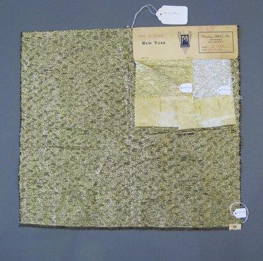Onondaga Silk Company, Inc. (1925-1981). <em>Textile Swatches</em>, 1948-1959. 52% Poliamide, 26% acetate, 22% metal, a: 17 x 18 1/2 in. (43.2 x 47 cm). Brooklyn Museum, Gift of the Onondaga Silk Company, 64.130.168a-c (Photo: Brooklyn Museum, CUR.64.130.168a-c.jpg)
