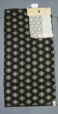 Onondaga Silk Company, Inc. (1925-1981). <em>Textile Swatches</em>, 1948-1959. 68% acetate, 25% nylon, 7% metal, a: 35 x 17 3/4 in. (88.9 x 45.1 cm). Brooklyn Museum, Gift of the Onondaga Silk Company, 64.130.169a-d (Photo: Brooklyn Museum, CUR.64.130.169a-d.jpg)