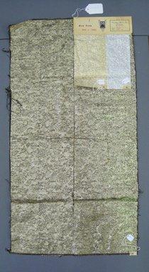 Onondaga Silk Company, Inc. (1925-1981). <em>Textile Swatches</em>, 1948-1959. 52% nylon, 26% acetate, 22% metal, a: 35 1/2 x 18 3/4 in. (90.2 x 47.6 cm). Brooklyn Museum, Gift of the Onondaga Silk Company, 64.130.171a-c (Photo: Brooklyn Museum, CUR.64.130.171a-c.jpg)