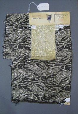 Onondaga Silk Company, Inc. (1925-1981). <em>Textile Swatches</em>, 1948-1959. 40% silk, 52% Poliamide, 8% metal, a: 19 1/2 x 15 1/2 in. (49.5 x 39.4 cm). Brooklyn Museum, Gift of the Onondaga Silk Company, 64.130.172a-c (Photo: Brooklyn Museum, CUR.64.130.172a-c.jpg)