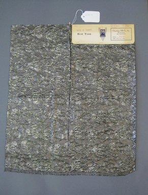 Onondaga Silk Company, Inc. (1925-1981). <em>Textile Swatches</em>, 1948-1959. 35% silk, 24% Poliamide, 17% metal, 22 x 18 1/4 in. (55.9 x 46.4 cm). Brooklyn Museum, Gift of the Onondaga Silk Company, 64.130.173 (Photo: Brooklyn Museum, CUR.64.130.173.jpg)