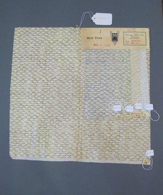Onondaga Silk Company, Inc. (1925-1981). <em>Textile Swatches</em>, 1948-1959. 60% acetate, 27% nylon, 13% metal, a: 18 x 17 1/2 in. (45.7 x 44.5 cm). Brooklyn Museum, Gift of the Onondaga Silk Company, 64.130.174a-e (Photo: Brooklyn Museum, CUR.64.130.174a-e.jpg)