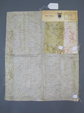 Onondaga Silk Company, Inc. (1925-1981). <em>Textile Swatches</em>, 1948-1959. 57% nylon, 36% silk, 12% metal, a: 22 x 17 1/2 in. (55.9 x 44.5 cm). Brooklyn Museum, Gift of the Onondaga Silk Company, 64.130.175a-c (Photo: Brooklyn Museum, CUR.64.130.175a-c.jpg)
