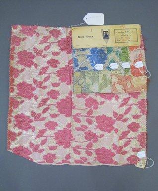 Onondaga Silk Company, Inc. (1925-1981). <em>Textile Swatches</em>, 1948-1959. 67% silk, 23% nylon, 10% metal, a: 18 x 17 1/2 in. (45.7 x 44.5 cm). Brooklyn Museum, Gift of the Onondaga Silk Company, 64.130.176a-e (Photo: Brooklyn Museum, CUR.64.130.176a-e.jpg)