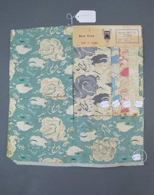 Onondaga Silk Company, Inc. (1925-1981). <em>Textile Swatches</em>, 1948-1959. 60% Acetate, 27% nylon, 13% metal, a: 18 x 17 1/2 in. (45.7 x 44.5 cm). Brooklyn Museum, Gift of the Onondaga Silk Company, 64.130.177a-e (Photo: Brooklyn Museum, CUR.64.130.177a-e.jpg)