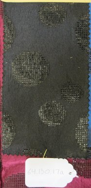Onondaga Silk Company, Inc. (1925-1981). <em>Textile Swatches</em>, 1948-1959. 81% silk; 19% metal, (a) - (c): 8 3/8 x 4 1/2 in. (21.3 x 11.4 cm). Brooklyn Museum, Gift of the Onondaga Silk Company, 64.130.17a-d (Photo: Brooklyn Museum, CUR.64.130.17a.jpg)