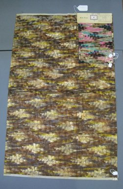 Onondaga Silk Company, Inc. (1925-1981). <em>Textile Swatches</em>, 1948-1959. Silk, metal, a: 40 1/2 x 25 1/4 in. (102.9 x 64.1 cm). Brooklyn Museum, Gift of the Onondaga Silk Company, 64.130.182a-d (Photo: Brooklyn Museum, CUR.64.130.182a-d.jpg)
