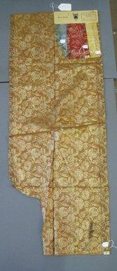 Onondaga Silk Company, Inc. (1925-1981). <em>Textile Swatches</em>, 1948-1959. 72% silk, 28% metal, a: 47 1/4 x 18 1/4 in. (120 x 46.4 cm). Brooklyn Museum, Gift of the Onondaga Silk Company, 64.130.184a-d (Photo: Brooklyn Museum, CUR.64.130.184a-d.jpg)