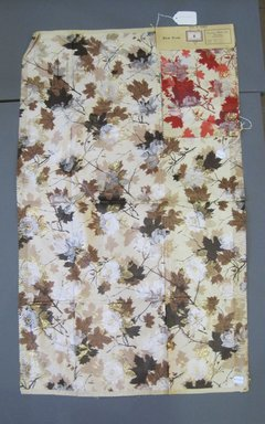 Onondaga Silk Company, Inc. (1925-1981). <em>Textile Swatches</em>, 1948-1959. Silk, metal, a: 40 1/2 x 24 1/2 in. (102.9 x 62.2 cm). Brooklyn Museum, Gift of the Onondaga Silk Company, 64.130.185a-d (Photo: Brooklyn Museum, CUR.64.130.185a-d.jpg)