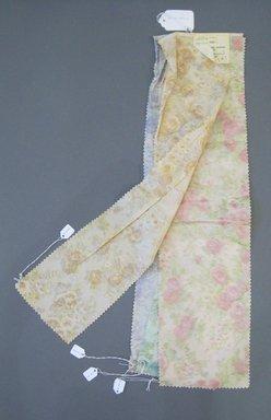 Onondaga Silk Company, Inc. (1925-1981). <em>Textile Swatches</em>, 1948-1959. Silk, a-d: 27 x 6 3/4 in. (68.6 x 17.1 cm). Brooklyn Museum, Gift of the Onondaga Silk Company, 64.130.189a-d (Photo: Brooklyn Museum, CUR.64.130.189a-d.jpg)
