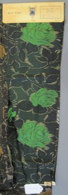 Onondaga Silk Company, Inc. (1925-1981). <em>Textile Swatches</em>, 1948-1959. 72% silk; 28% metal, (a) - (c): 24 x 8 in. (61 x 20.3 cm). Brooklyn Museum, Gift of the Onondaga Silk Company, 64.130.18a-e (Photo: Brooklyn Museum, CUR.64.130.18a.jpg)