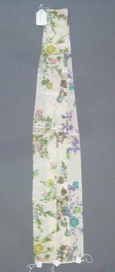 Onondaga Silk Company, Inc. (1925-1981). <em>Textile Swatches</em>, 1948-1959. Silk, a-c: 40 x 3 1/2 in. (101.6 x 8.9 cm). Brooklyn Museum, Gift of the Onondaga Silk Company, 64.130.191a-c (Photo: Brooklyn Museum, CUR.64.130.191a-c.jpg)